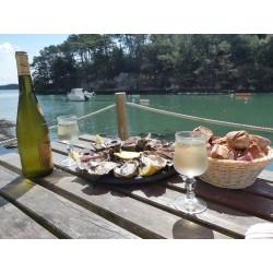 réservez une table à notre dégustation de fruits de mer à Larmor-Baden
